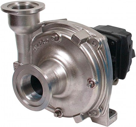 "Hydraulic Stainless Steel Centrifugal Pump with 1-1/2"" NPT Inlet x 1-1/4"" NPT Outlet"