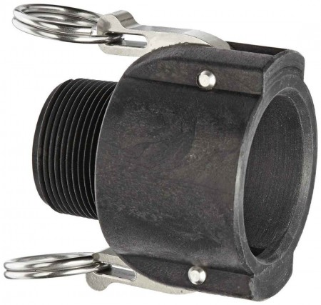 """Cam Action Coupler Fitting - 1 1/2"""" Female Coupler x 1 1/2"""" MPT"""