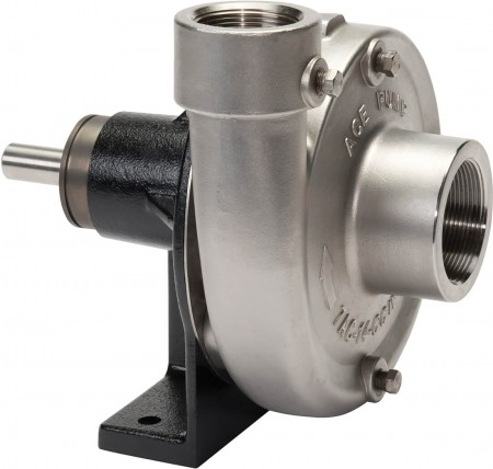 """Belt Driven 316 Stainless Steel Pump with 2"""" Suction x 1-1/2"""" Discharge"""