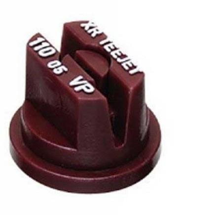 XR TeeJet Brown Acetal Polymer Extended Range Flat Spray Tip Nozzle