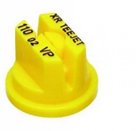 XR TeeJet Yellow Acetal Polymer with cap/gasket Extended Range Flat Spray Tip Nozzle