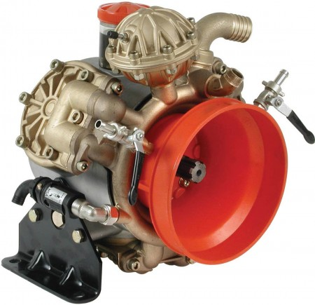 "Diaphragm Pump with 1-1/2"" HB Inlet x 3/4"" HB Outlet"