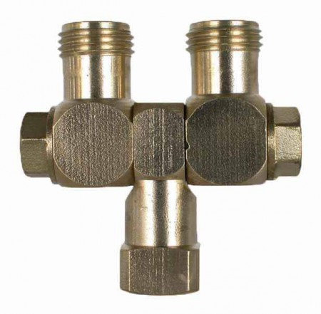 """Brass Swivel Union Fitting - 1/4"""" FPT x 11/16"""" MPS"""