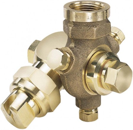TeeJet Brass Swivel Spray Off-Center Flat Spray Tip Nozzle