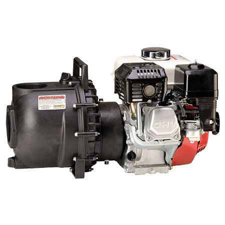 "6 HP Honda Gas Engine Poly Pump with 3"" NPT"