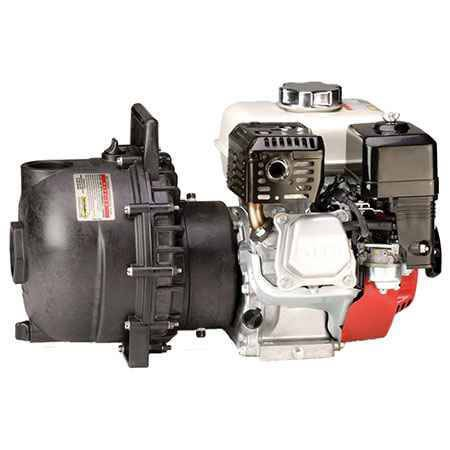 "6 HP Briggs & Stratton Gas Engine Poly Pump with 2"" NPT"