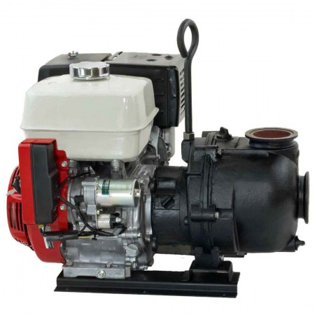 "6 HP Honda Gas Engine Cast Iron Pump with 2"" NPT"