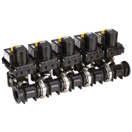 """1"""" Flange Polypropylene Electric Manifold Valve Assembly"""