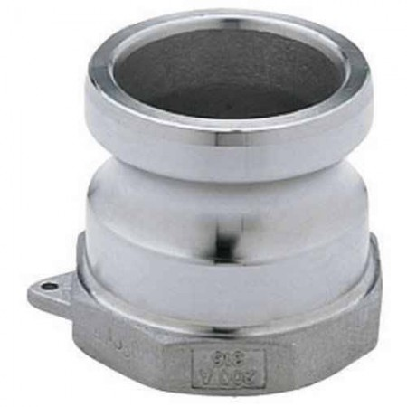 """Cam Action Adapter Fitting - 1 1/2"""" FPT x 1 1/2"""" Male Adapter"""
