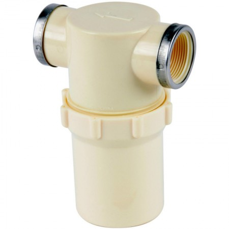 """1 1/4"""" FPT Nylon T-Line Strainer with Buna-N Gasket"""