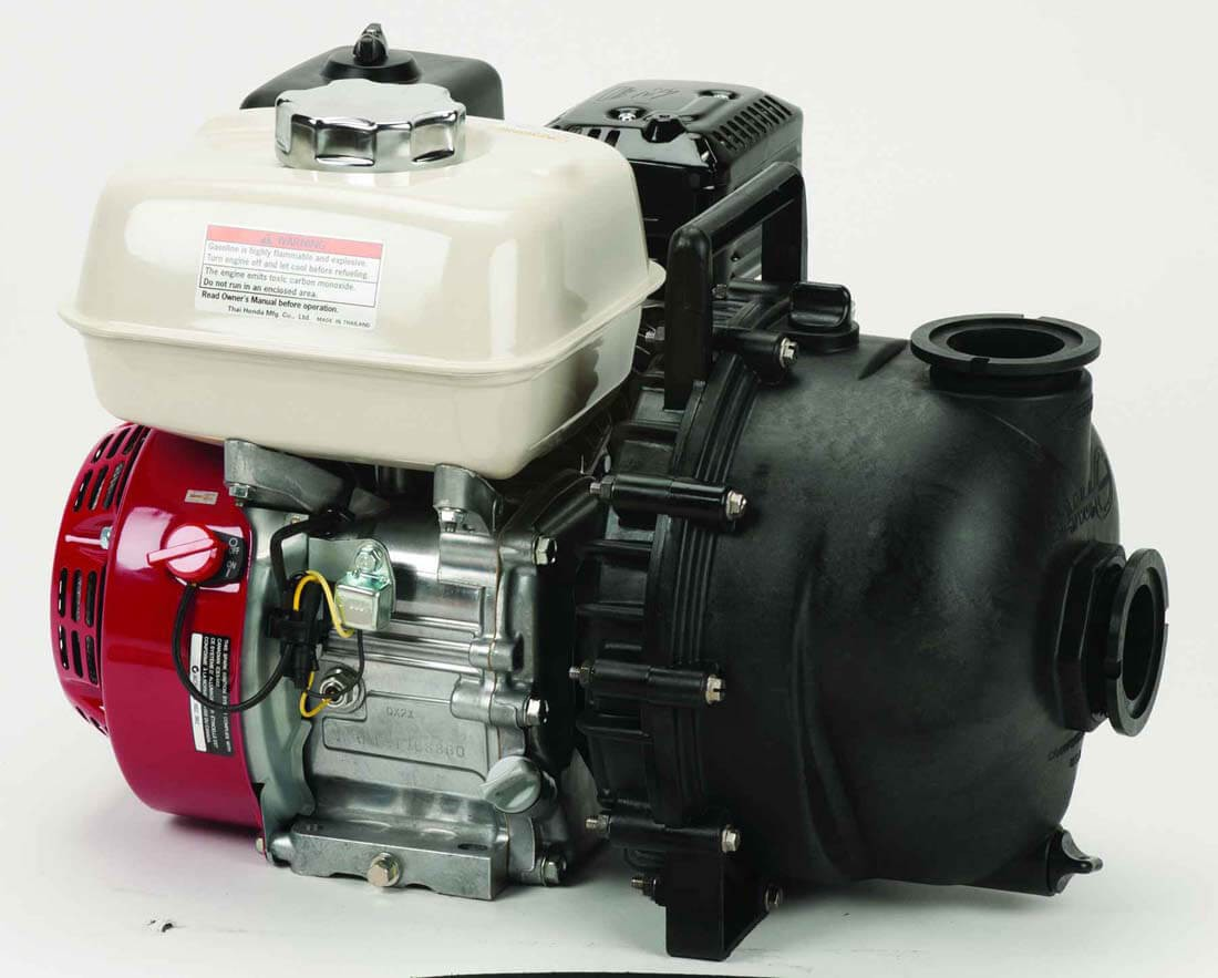 "220 Volt Outlet >> M220PH5W Banjo | 5.5 HP Honda Gas Engine Poly Pump with 2"" NPT"