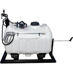 60 Gallon UTV Sprayer w/ 3.0 GPM Everflo Pump, Pistol Spray Gun, & adjustable boomless nozzle