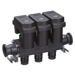 TeeJet 3-Valve 2-Way Electric Manifold Shutoff Ball Valve