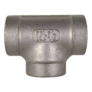 "Stainless Steel Pipe Tee Fitting - 1 1/4"" FPT x 1 1/4"" FPT"