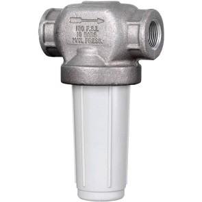 "1"" FPT Nylon/CI T-Line Strainer - Viton Gasket"