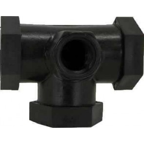 "Pipe Tees 1/4 Gauge Port Fitting - 3/4"" FPT"