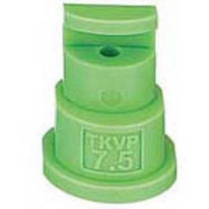 FloodJet Light Green Acetal Polymer Wide Angle Flat Spray Tip Nozzle