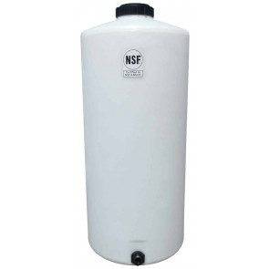 65 Gallon Plastic Vertical Storage Tank