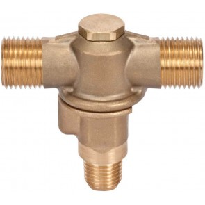 "3/8"" MPT 2 Outlet Brass Rollover"
