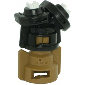TurboDrop Black/Brown Polyacetal-SS-EPDM Variable Rate Spray Nozzle