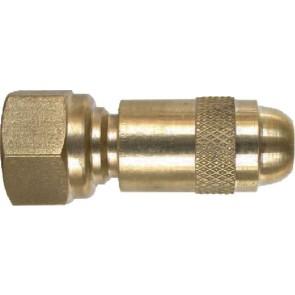 "Brass Adjustable Nozzle - 1/4"" MPT"