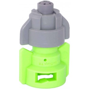 TurboDrop Gray/Lime Green Polyacetal-SS-EPDM Variable Rate Fertilizer Spray Nozzle