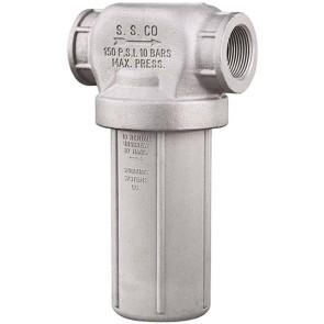 "1 1/4"" FPT Nylon/CI T-Line Strainer - Buna-N Gasket"