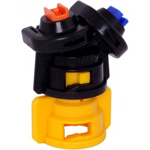 TurboDrop Black/Yellow Polyacetal-EPDM Medium Pressure DualFan Spray Nozzle