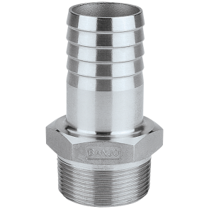 "Hose Barb Fitting - 3/8"" MPT x 3/8"" Hose Barb"