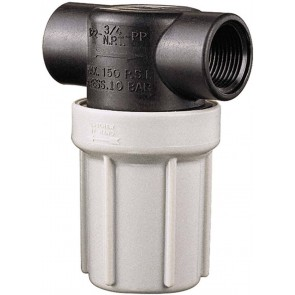 """3/4"""" FPT Compact Poly T-Line Strainer"""