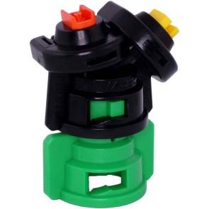 TurboDrop Black/Dark Green Polyacetal-EPDM Medium Pressure DualFan Spray Nozzle