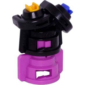 TurboDrop Black/Pink Polyacetal-EPDM Medium Pressure DualFan Spray Nozzle