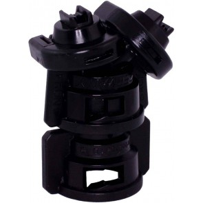 TurboDrop Black Polyacetal-EPDM Medium Pressure DualFan Spray Nozzle