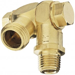 "1/4"" MPT 1 Outlet Swivel Nozzle Body"