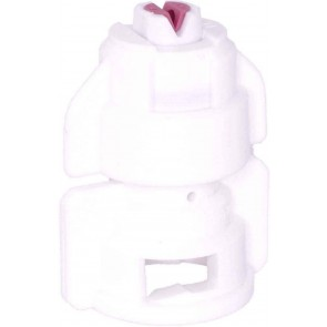 TurboDrop White Ceramic-Polyacetal-EPDM High Pressure Full Ceramic TwinFan Spray Nozzle