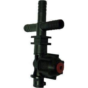 """3/8"""" Hose Barb 1 Outlet QJ200 Single Nozzle Body for Dry Applications"""