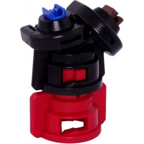 TurboDrop Black/Red Polyacetal-Ceramic Medium Pressure DualFan Spray Nozzle