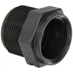 "Pipe Reducer Bushing Fitting - 1 1/2"" MPT x 1 1/4"" FPT"