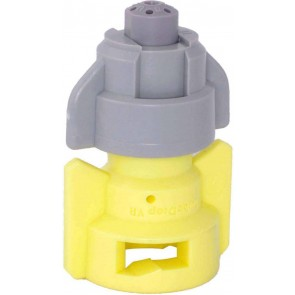 TurboDrop Gray/Yellow Polyacetal-SS-EPDM Variable Rate Fertilizer Spray Nozzle
