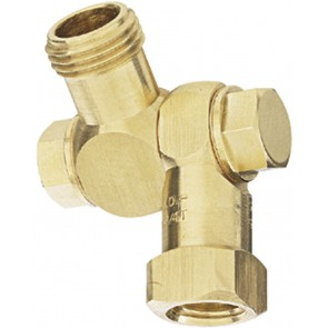 "1/4"" FPT 1 Outlet Swivel Nozzle Body"