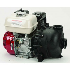 "5.5 HP Honda Gas Engine Poly Pump with 2"" NPT"