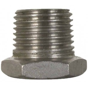 "Stainless Steel Pipe Reducer Bushing Fitting - 1"" MPT x 1/2"" FPT"