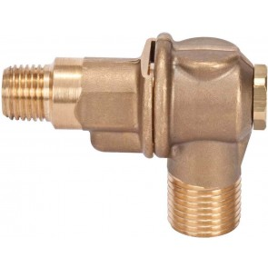 "1/4"" MPT 1 Outlet Brass Rollover"