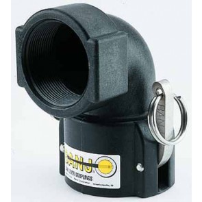 "Cam Action 90° Coupler Fitting - 2"" Female Coupler x 2"" FPT"
