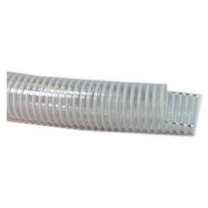 "1 1/2"" White Spiral Suction Hose / ft"