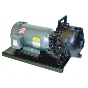 "5 HP Three Phase Electric Engine Poly Pump with 2"" NPT"