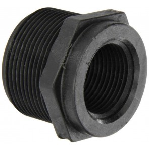 "Pipe Reducer Bushing Fitting - 1 1/2"" MPT x 1"" FPT"
