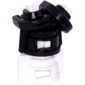 TurboDrop D Black/White Polyacetal Medium Pressure DualFan Spray Nozzle