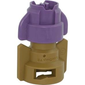 TurboDrop Purple/Brown Polyacetal-SS-EPDM Variable Rate Spray Nozzle