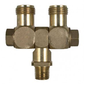 "Brass Swivel Union Fitting - 1/4"" MPT x 11/16"" MPS"